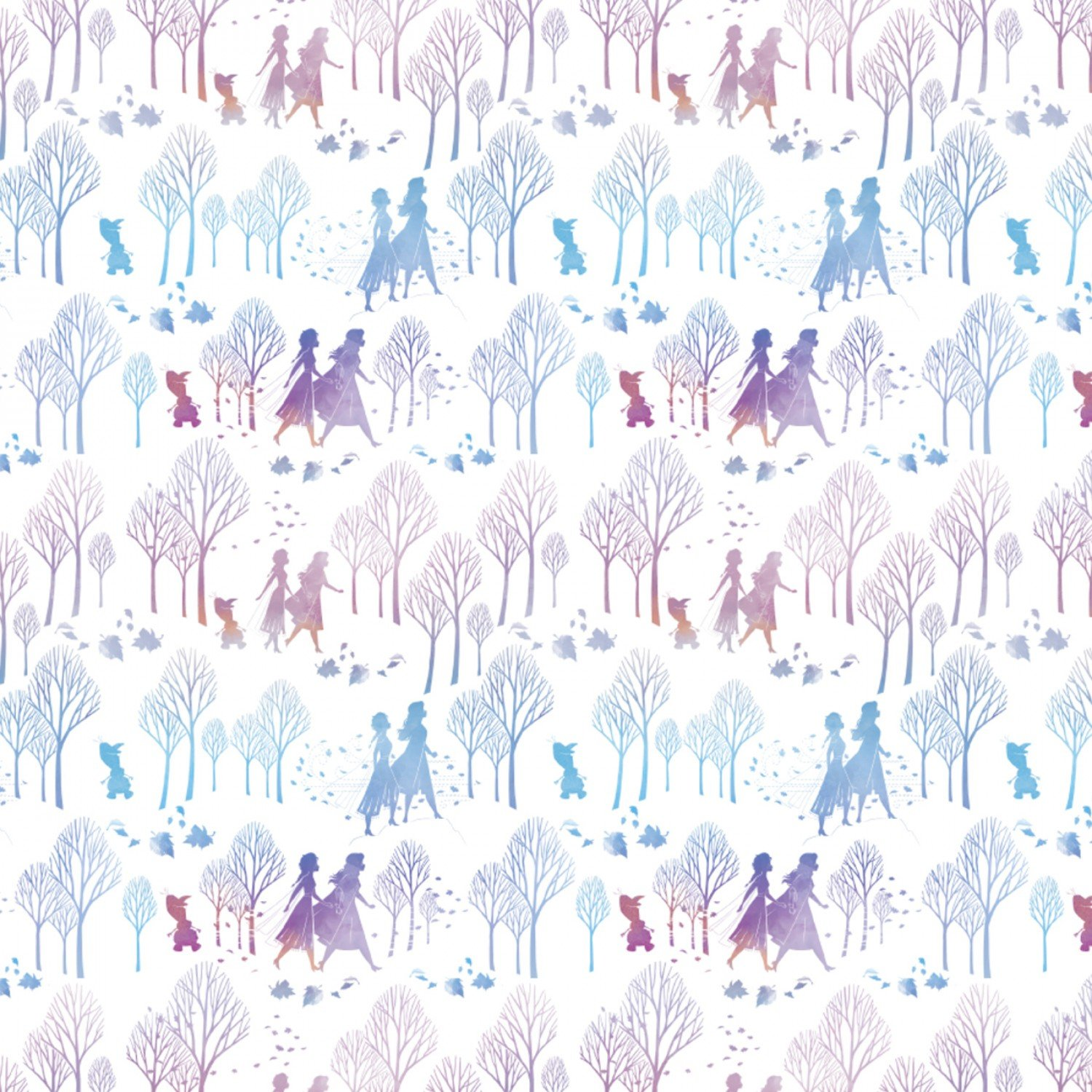 Frozen 2 Disney Fabric Trees and Silhouettes Cotton 43-44 Inches