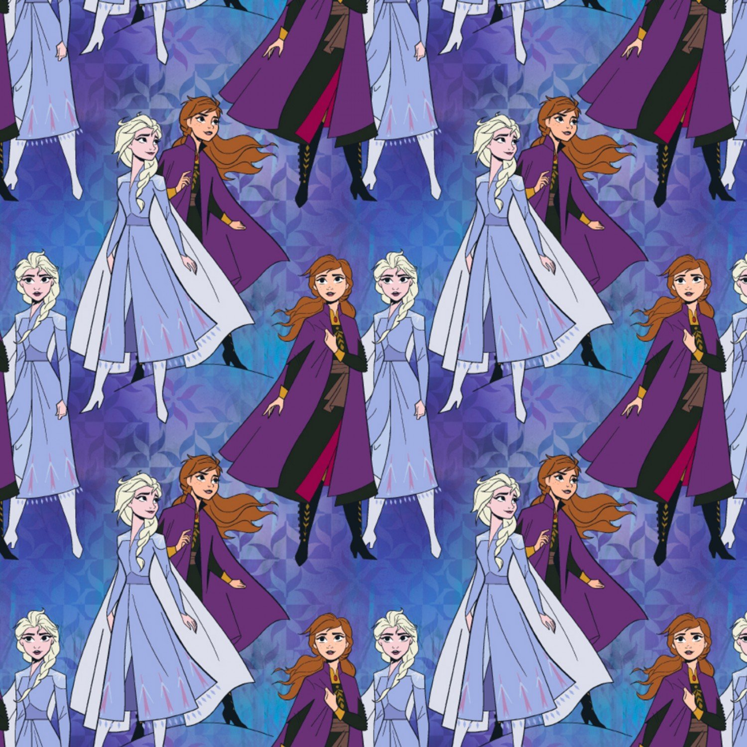 Frozen 2 Elsa And Anna Together Children's Cotton Fabric Yardage