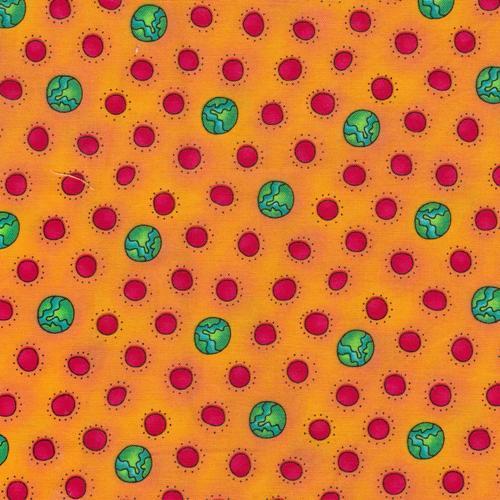 Fun Brites Orange Multi Children's Fabric Yardage 44 Inches Wide