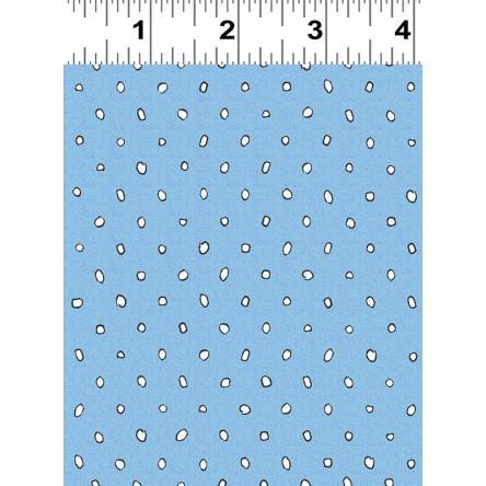 Garden Party Children's Fabric Yardage Blue/White Dots Cotton