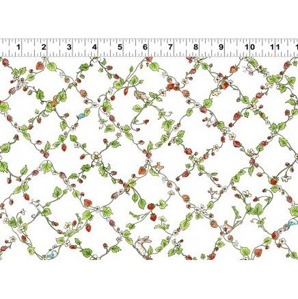 Garden Party Children's Fabric Yardage Strawberry Vines from Clothwork