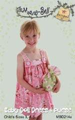 Girls Dress Patterns, Baby Doll Dress and Purse Pattern