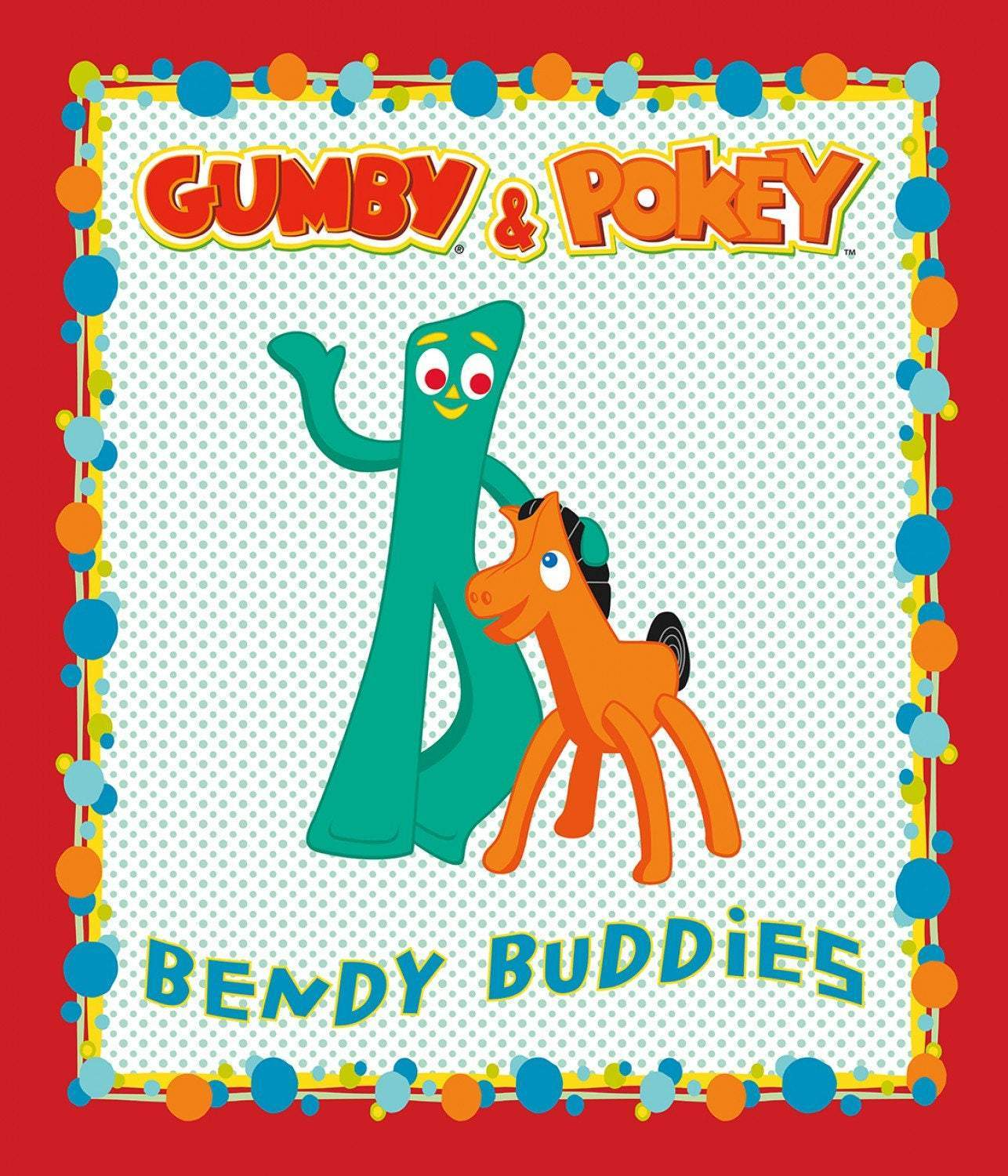 GUMBY AND POKEY Children's Cotton Cloth Panel by Riley Blake Designs