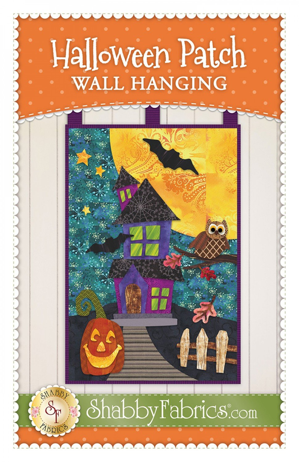 Halloween Patch Wall Hanging Quilt Pattern from Shabby Fabrics