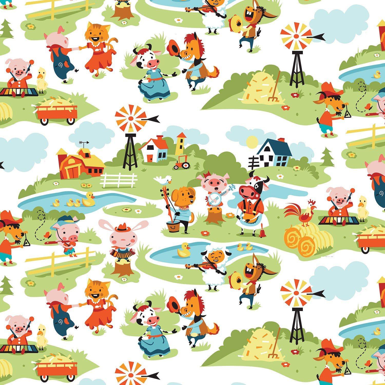 HARMONY FARMS Children's Cotton Farm Fabric by Riley Blake