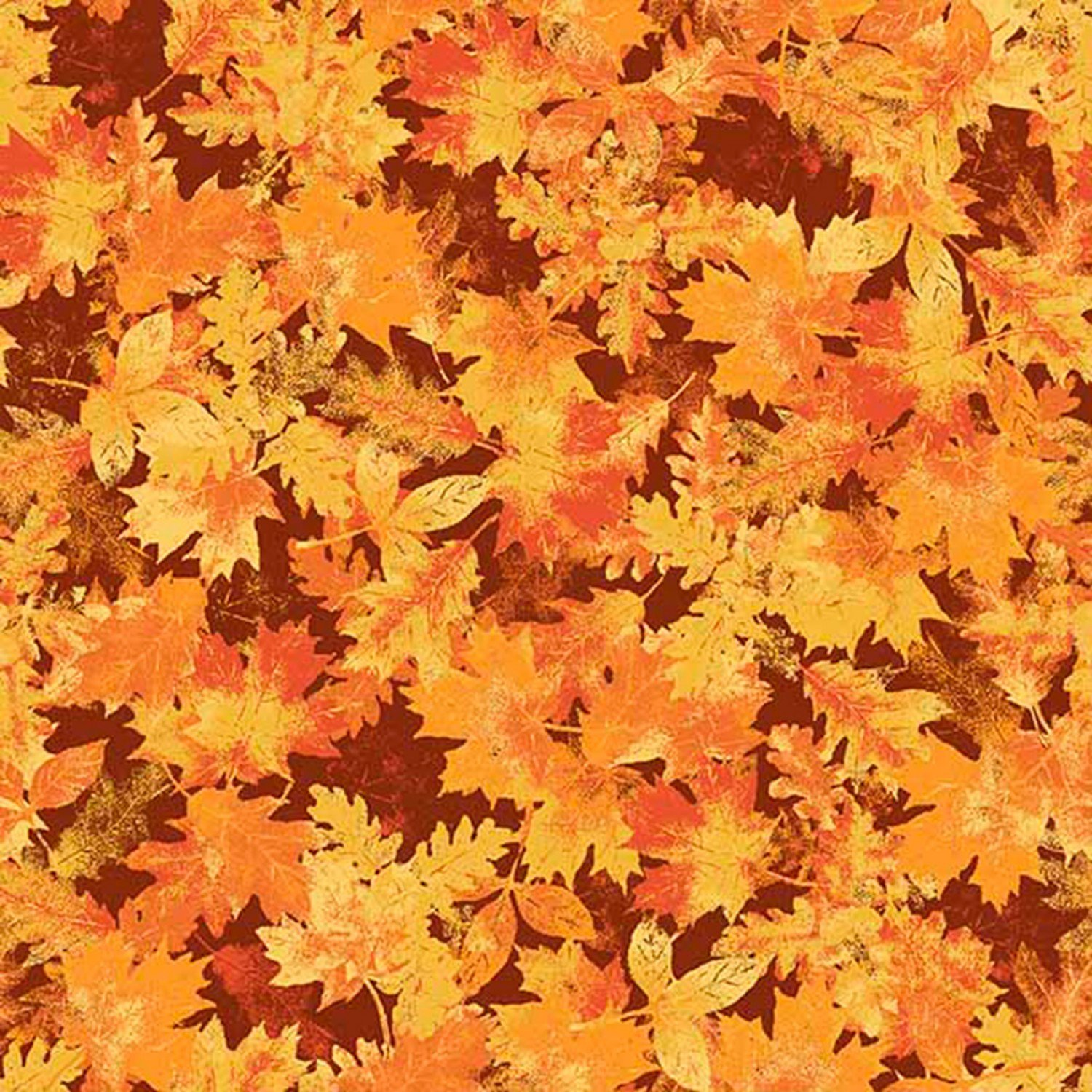 Harvest Fall Leaves Cotton Fabric from Springs Creative 44 Inches Wide