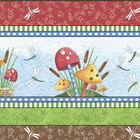 It's A Pond Children's Fabric By The Yard Vertical Stripe Cotton