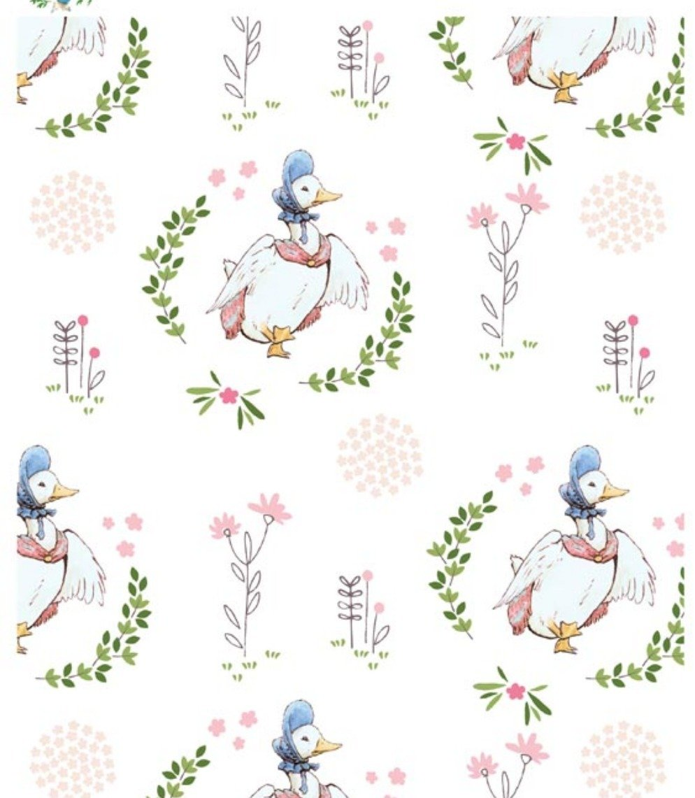 Jemima Puddleduck Children's Fabric Yardage from Beatrix Potter Collection 44 Inches Wide