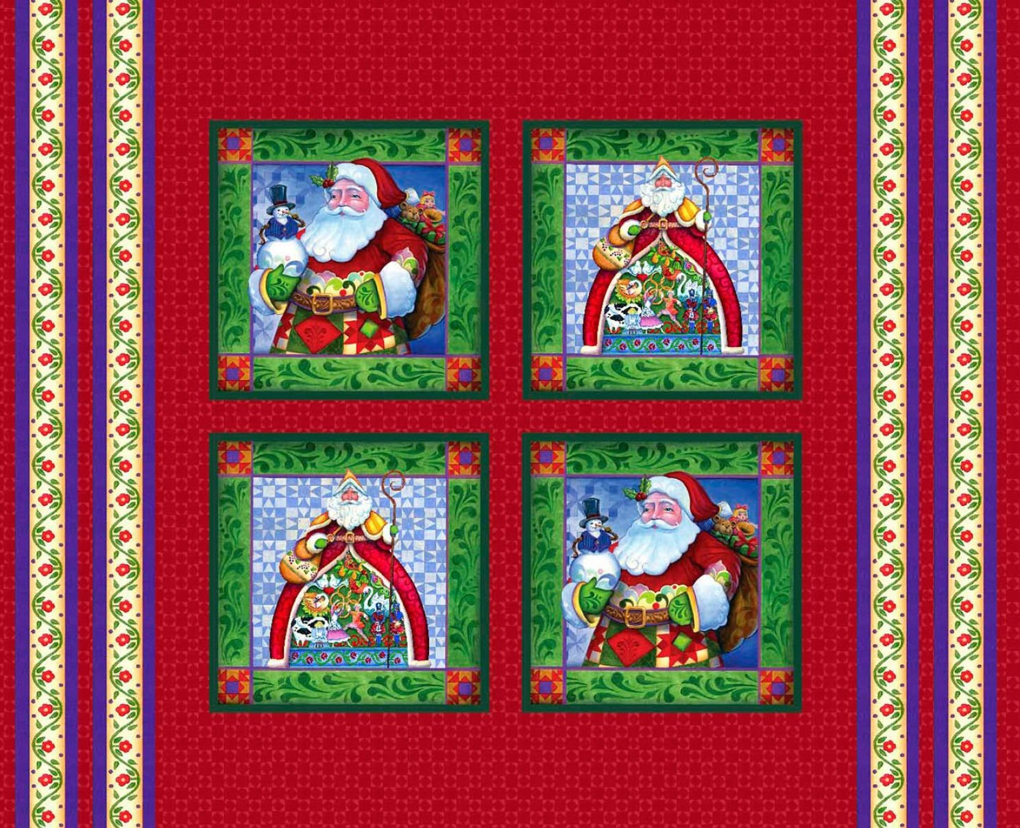 JIM SHORE HOLIDAY Christmas Pillow Panels by Christmas Traditions