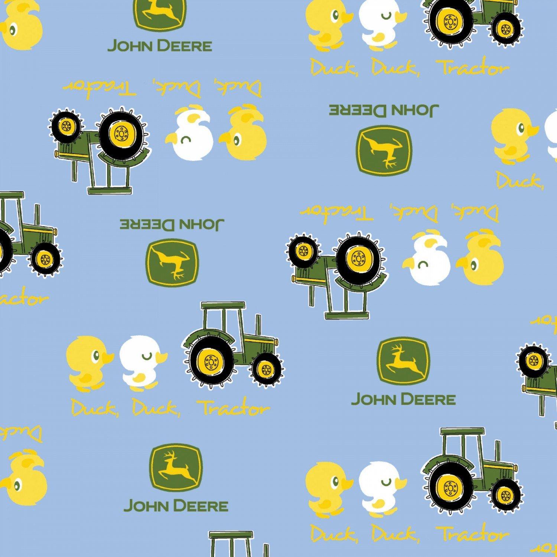 John Deere Children's Fabric  Blue Duck Cotton Fabric 44-45 Inches Wide