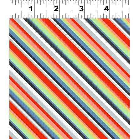 Keep On Truck'n Children's Fabric Yardage Multi Stripes