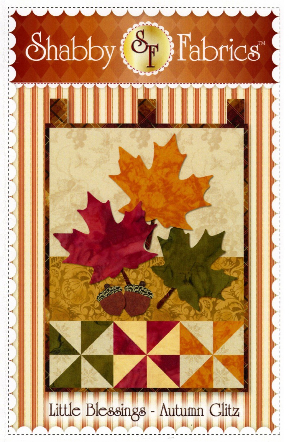 Little Blessings Autumn Glitz Wall Hanging Quilt Pattern from Shabby Fabrics