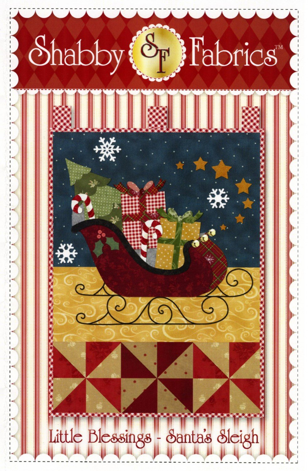 Little Blessings Santa's Sleigh Quilt Wall Hanging Pattern
