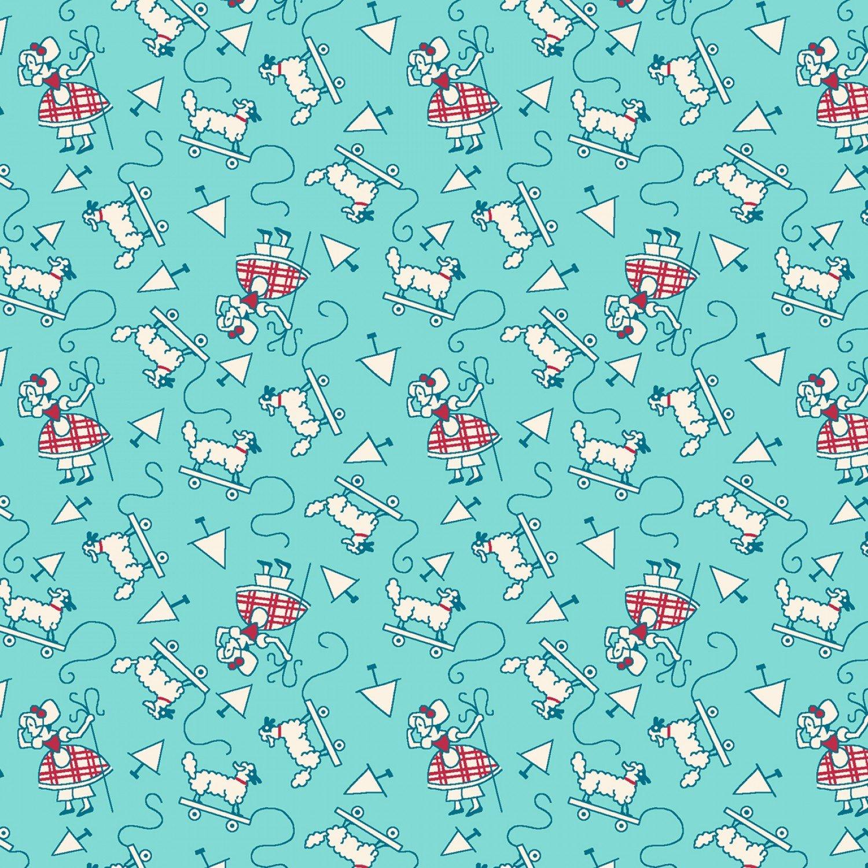 Little Bo Peep Children's Nursery Rhymes Reproduction Fabric