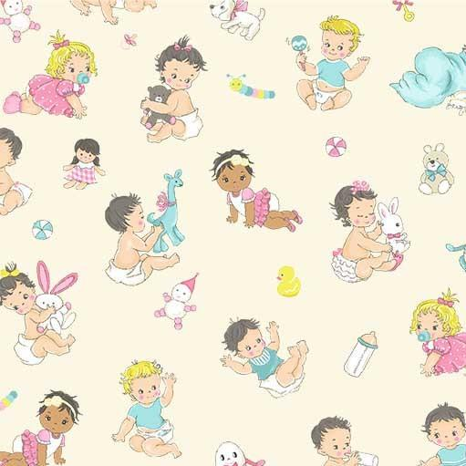 Little Ole Playtime Children's Fabric from Michael Miller 44 Inches Wide