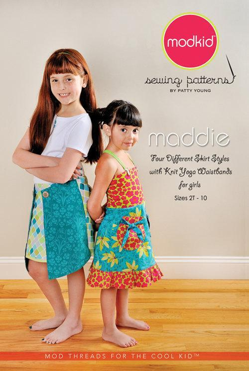 Modkid Patterns, Maddie Skirt size 2T - 10 by Patty Young