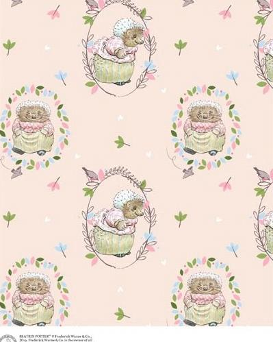 Mrs. Tiggy Winkle Children's Cotton Fabric from Beatrix Potter Fabric