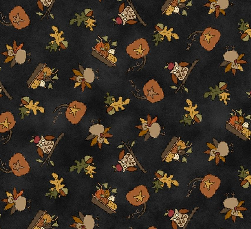 My Red Wagon Fall Autumn Fabric from Henry Glass 43-45 Inches Wide