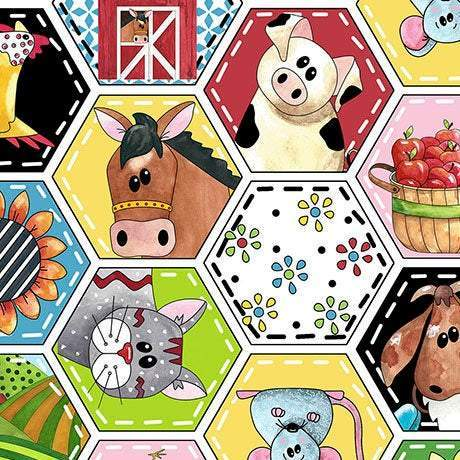 PATCHWORK FARMS CHILDREN'S, Cotton Fabric 44 inches wide