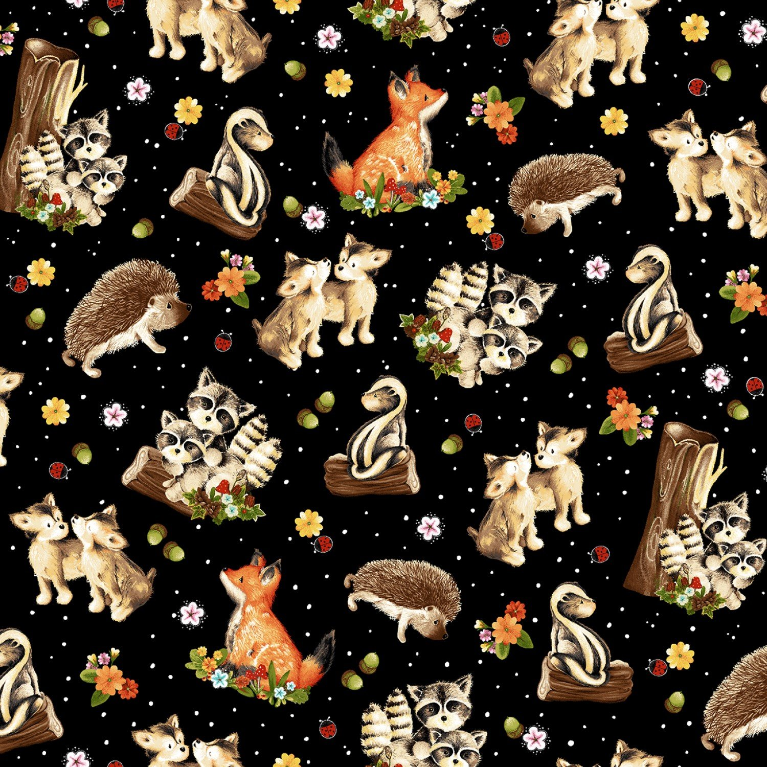 Peace In The Forest Fabric 44 Inches Wide Children's Cotton