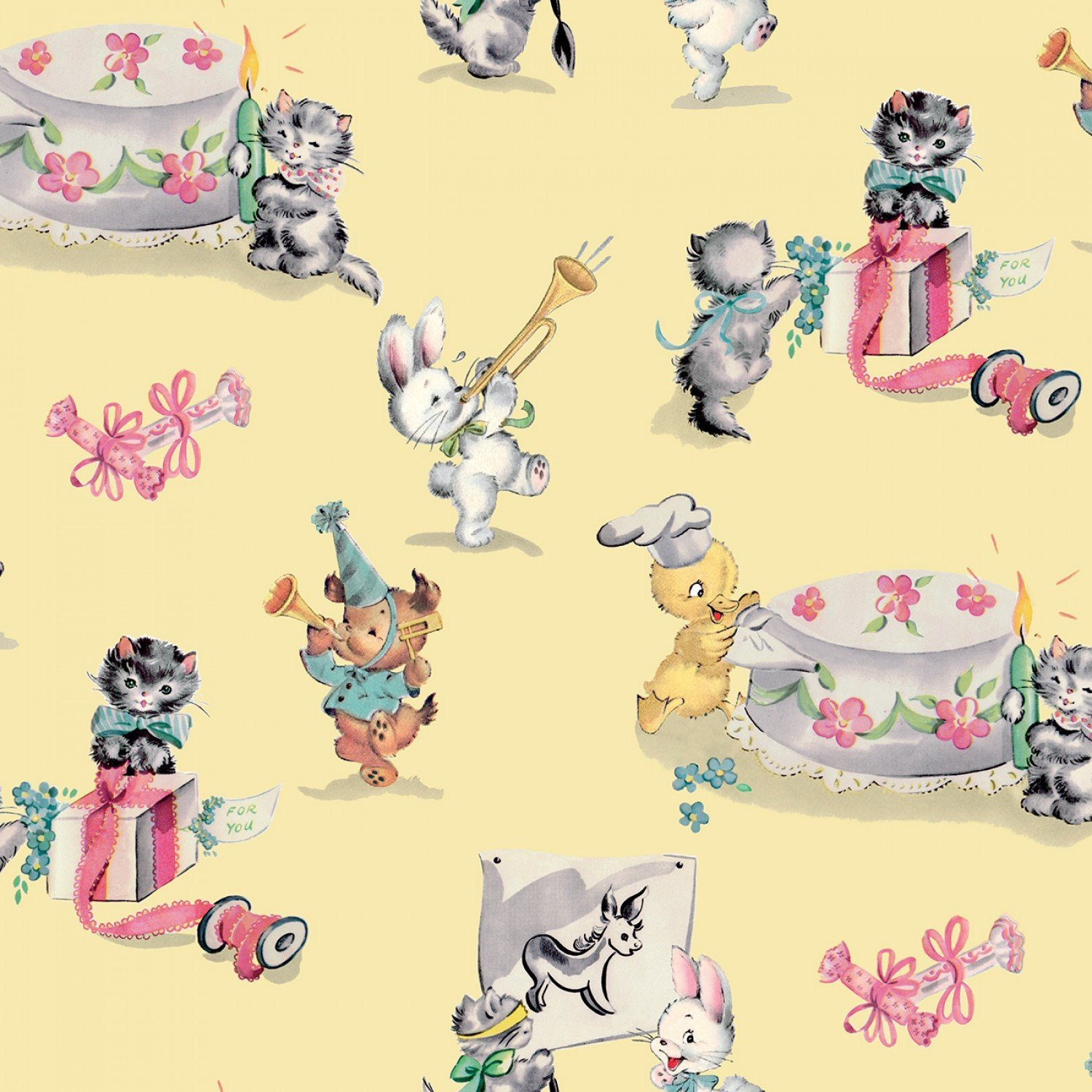 PERFECT PARTY Children's Cotton Fabric by Lindsay Wilkes for Penny Rose Fabrics 43-44 Inches