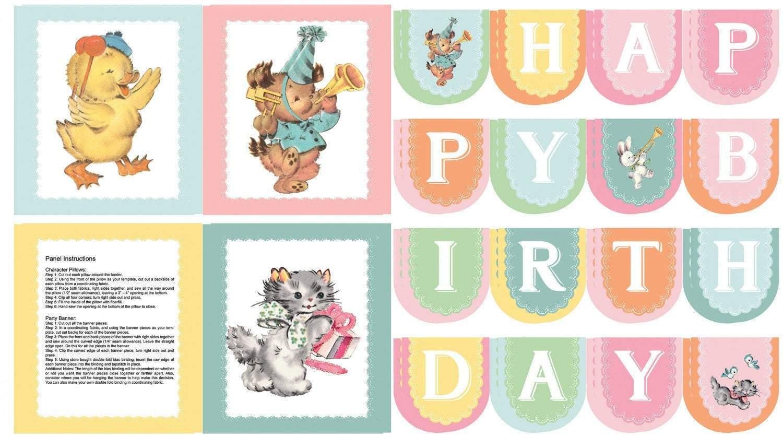 Perfect Party Panel Children's Birthday Banner
