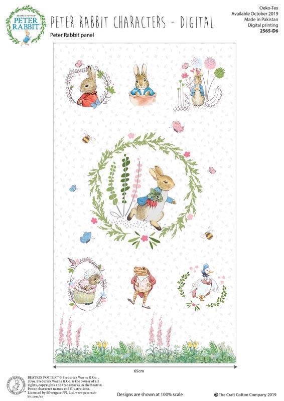 Peter Rabbit Children's Fabric Panel from Beatrix Potter