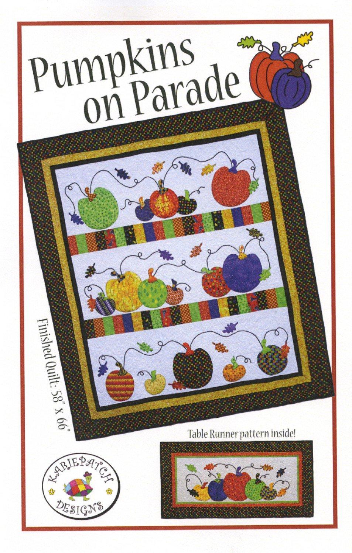 Pumpkins On Parade Pumpkin Quilt Pattern from Karie Patch Designs