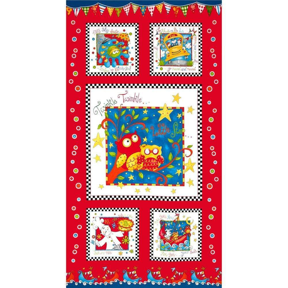 Rhyme Time Cotton Children's Fabric Panel