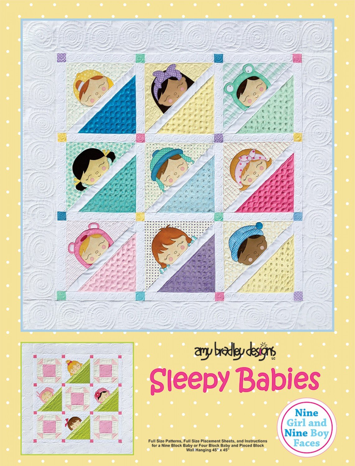 Sleepy Babies Baby Quilt Patterns by Amy Bradley