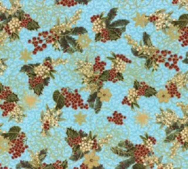 Snow Globe Holiday Fabric from Hoffman Fabrics 44/45 Inches Wide