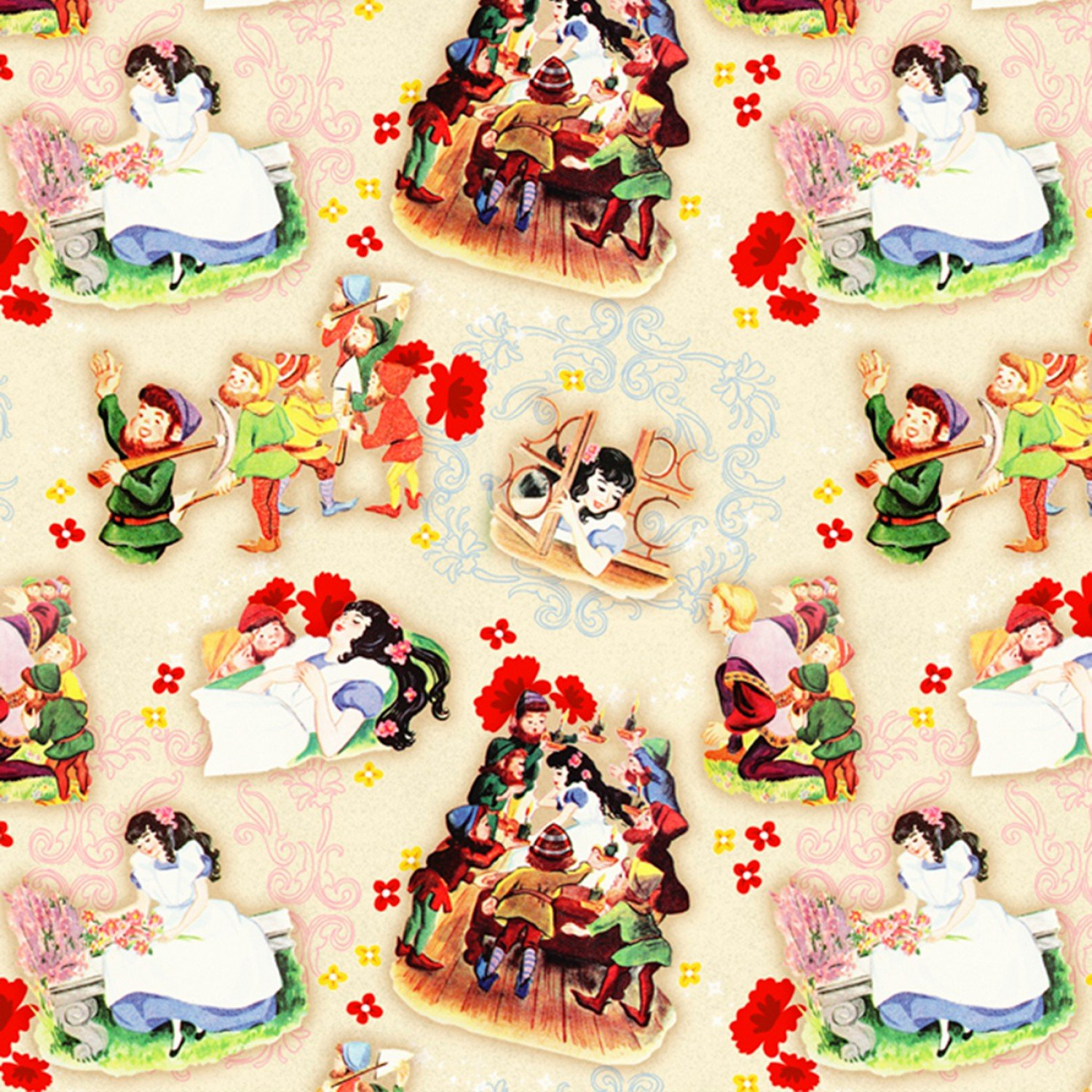Snow White Children's Fabric Yardage 44-45 Inches Wide