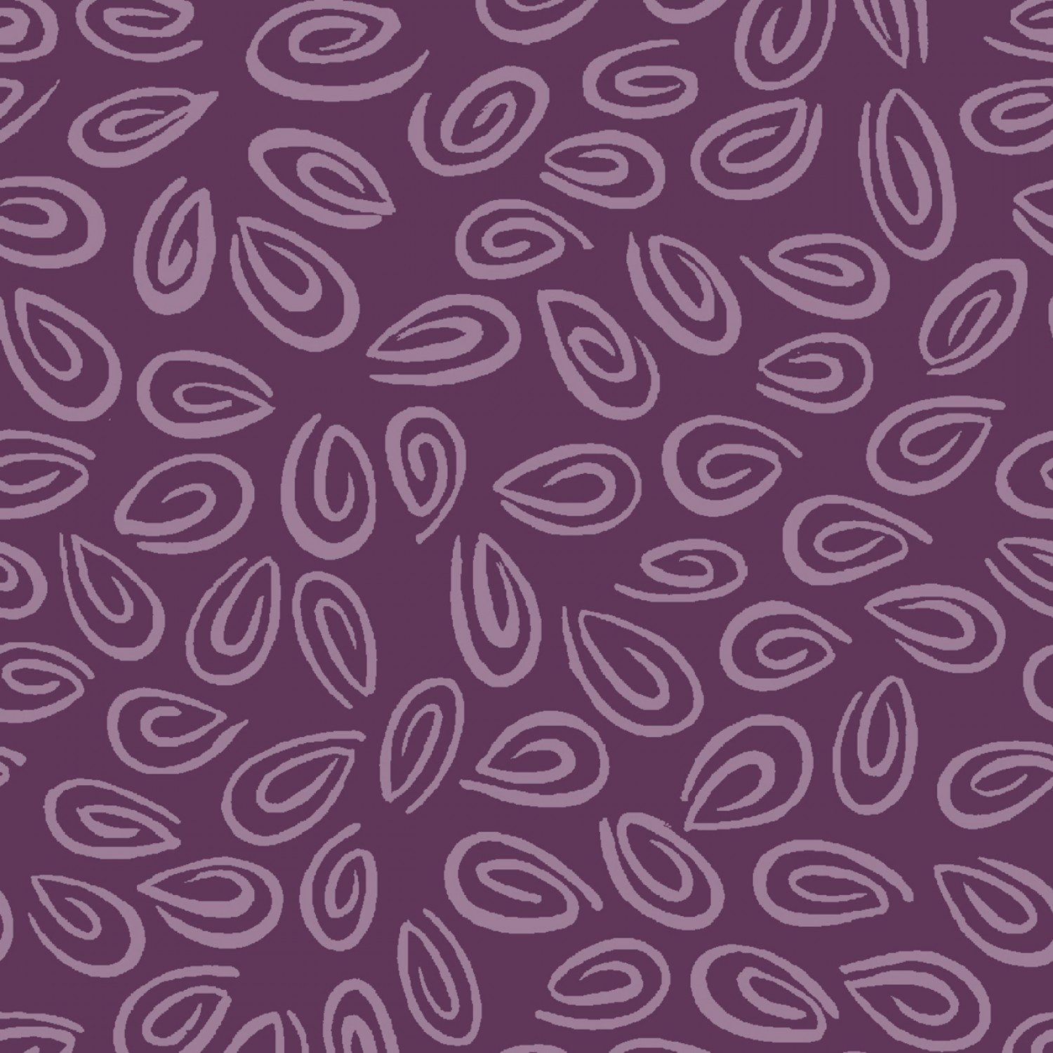 Susybee Children's Fabrics Purple Spirals from Barnyard Buddies