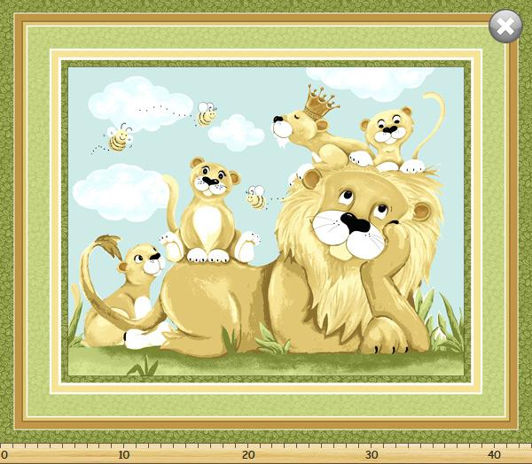 Susybee Lyon The Lion Play Mat Children's Fabric 36 x 44 Inches