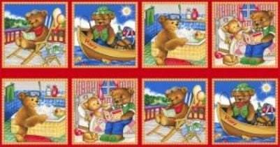 Thomsen Bear Fabric Prints Cotton Children's Fabric Yardage