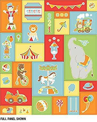 Under The Big Top Children's Circus Cotton Fabric from Benartex