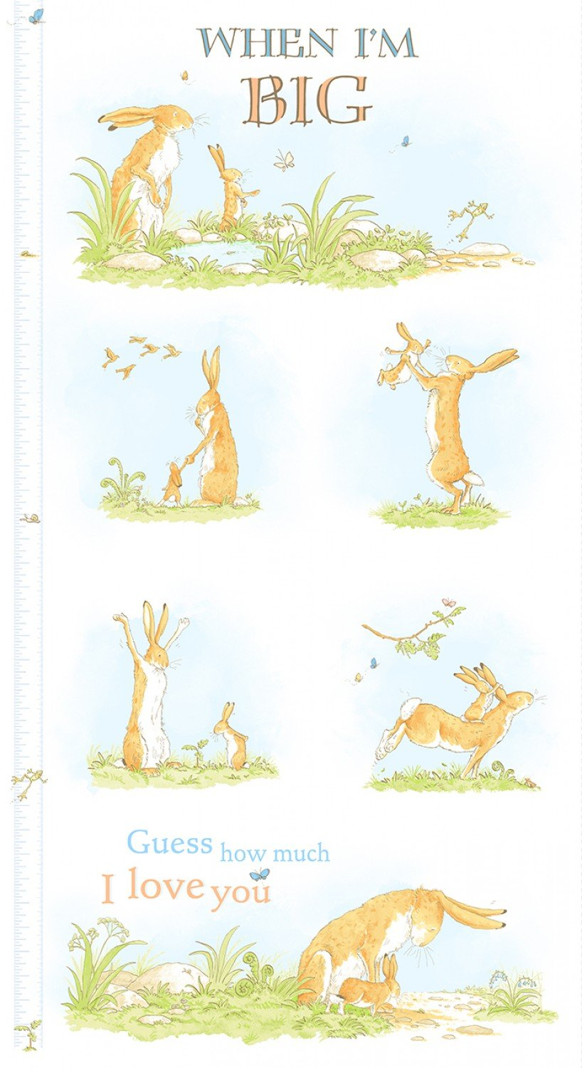 When I Am Big Children's Growth Chart Cotton Panel 24 x 44 Inches