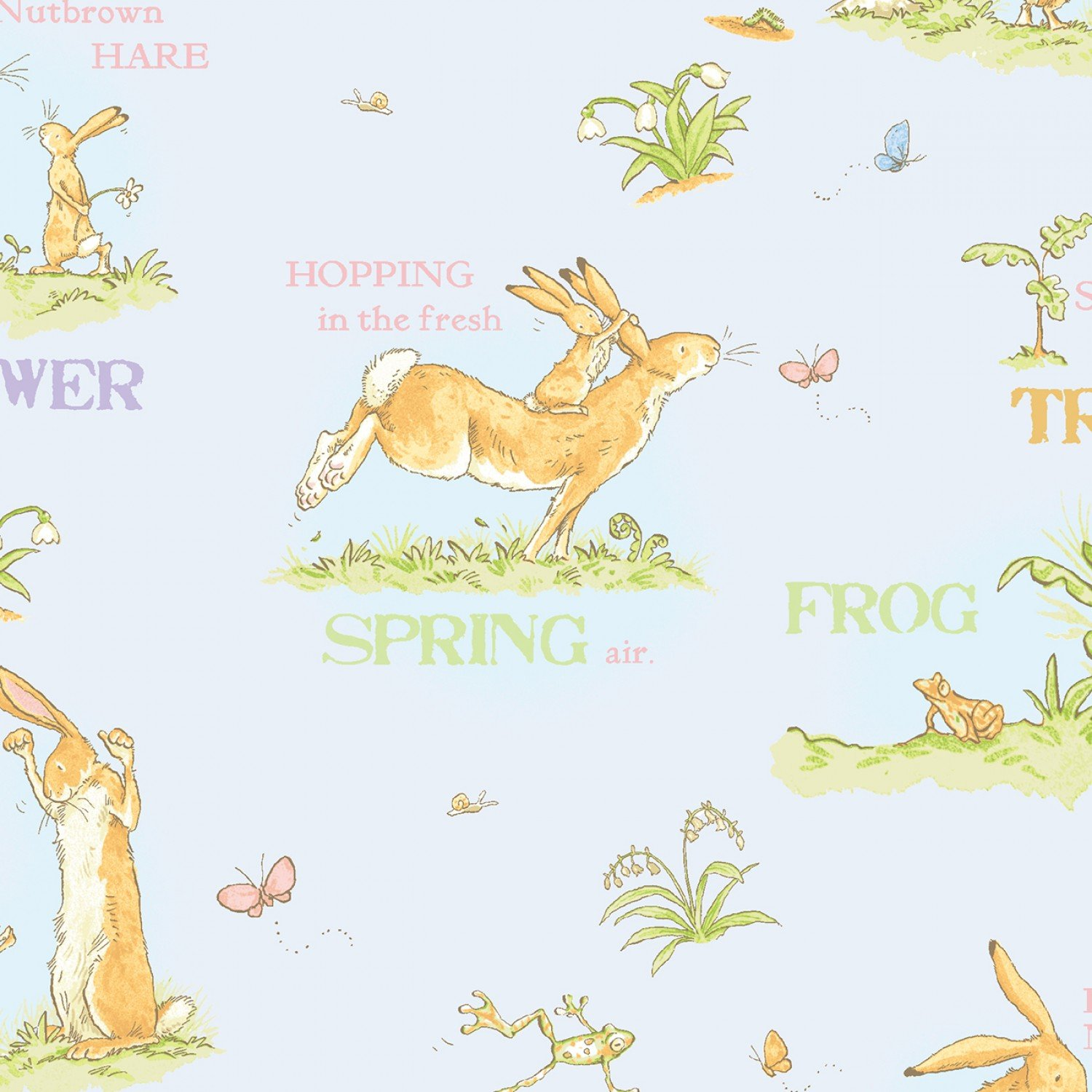 When I Am Big Gray Toille Children's Fabric Yardage 44 Inches Wide