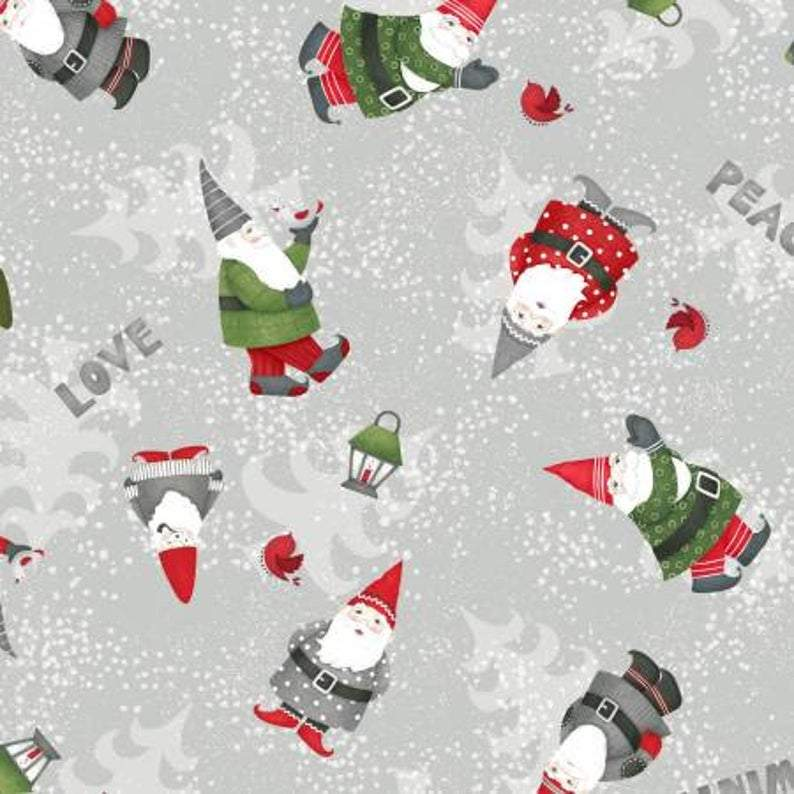Winter Gnomes Holiday Christmas Fabric from Debbie Mumm