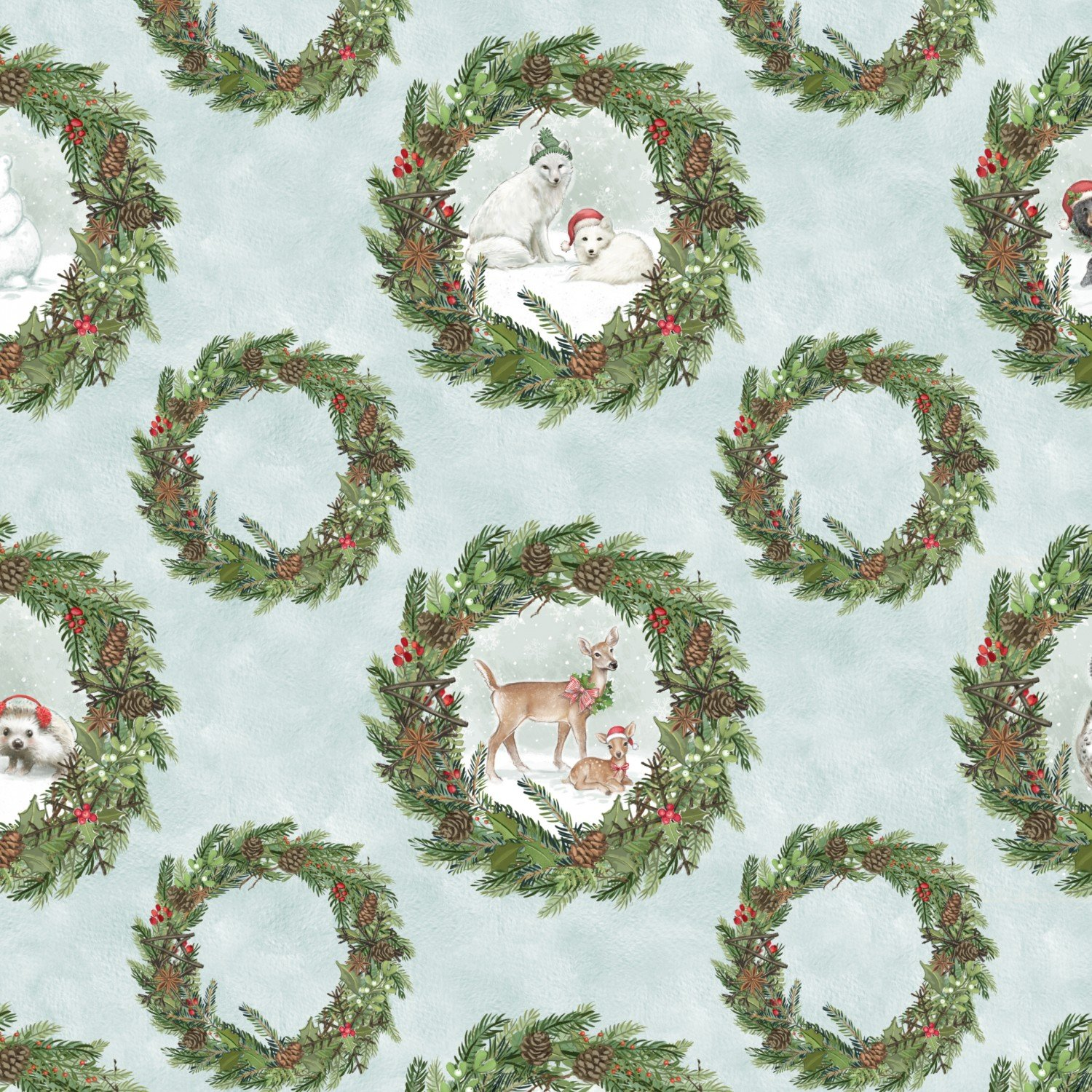 Woodland Friends Holiday Fabric 44 Inches Wide from Wilmington Prints