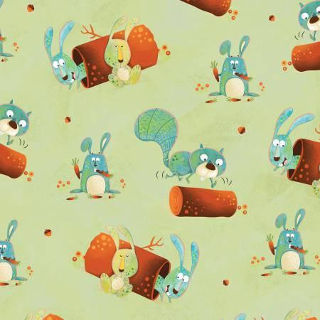 Woodsy Wonders Children's cotton fabric by Henry Glass