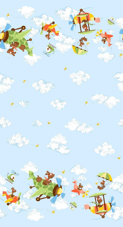 Susybee Zig The Flying Ace Children's Double Border Fabric
