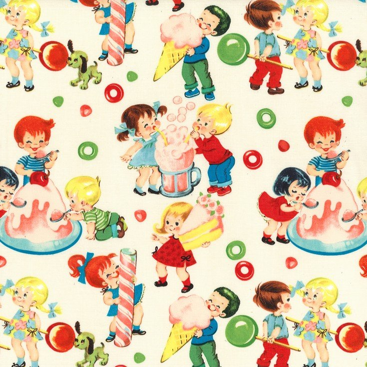 Candy Shop Children's Fabric from Michael Miller 44/45 Inches Wide