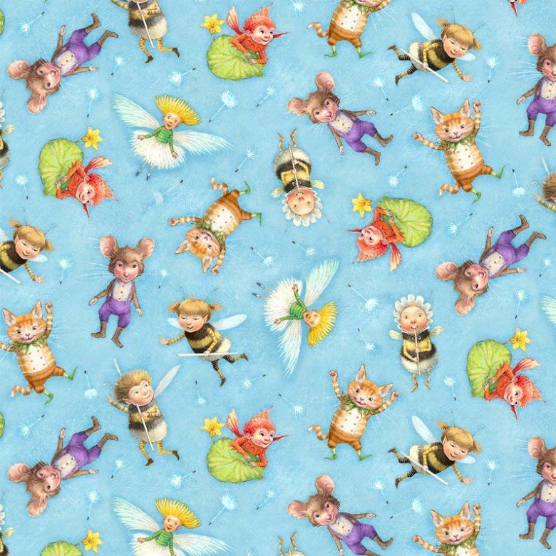 Flight Of Fantasy Children's Pixie Collection Fabric from Michael Miller 44/45 Inches Wide
