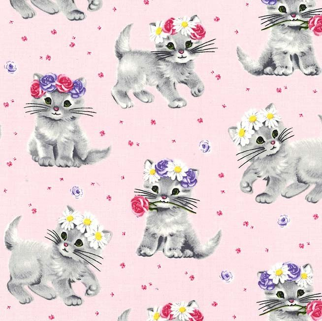Furry Princess Kitten Fabric