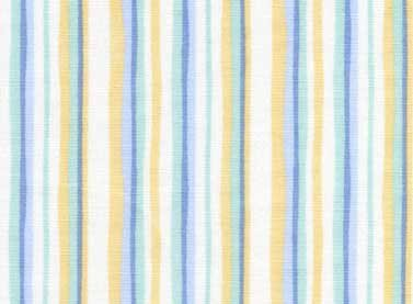 Peek A Boo Children's Multi Blue Stripe Fabric from Red Rooster