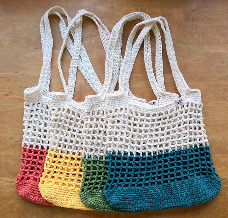 Color Block Market Bag