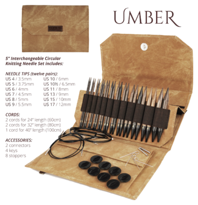 Lykke Interchangeable 5 Circular Knitting Needle Set