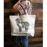 Alpaca Shoulder Tote Bag