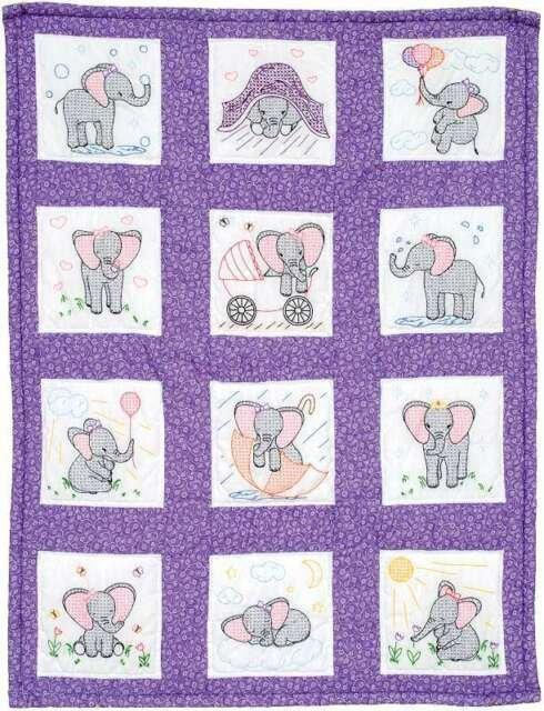 300-924 Elephants Quilt Block Set